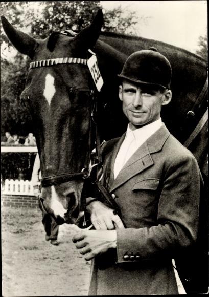 Ak Fritz Thiedemann, Springreiter, Pferd