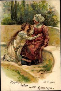 Künstler Litho Bacon, John H., Szene aus Romeo und Julia, Tragödie von William Shakespeare