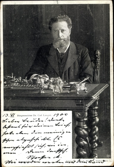 Ak Wiener Bürgermeister Karl Lueger, Politiker, Portrait