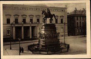 Ak Berlin, Palais Kaiser Wilhem I. u. Denkmal König Friedrich II. von Preußen, Friedrich der Große