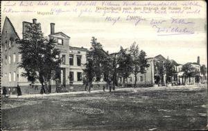 Ak Nidzica Neidenburg Ostpreußen, Nach dem Einbruch der Russen 1914, Magistrat