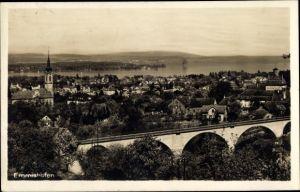Ak Emmishofen Kreuzlingen Kt. Thurgau Schweiz, Teilansicht, Viadukt
