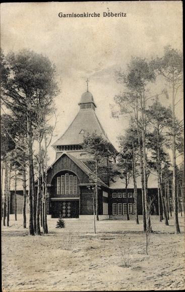 Ak Dallgow Döberitz im Havelland, Garnisonkirche, Kursus für Fahnenjunker, Truppenübungsplatz