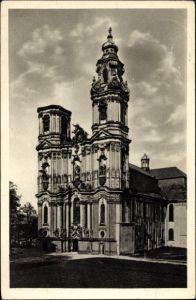 Ak Krzeszów Kamienna Góra Grüssau Schlesien, Klosterkirche in d. Benediktinerabtei