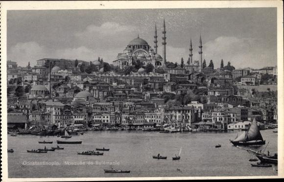 Ak Konstantinopel Istanbul Türkei, Mosquée de Sulémanie