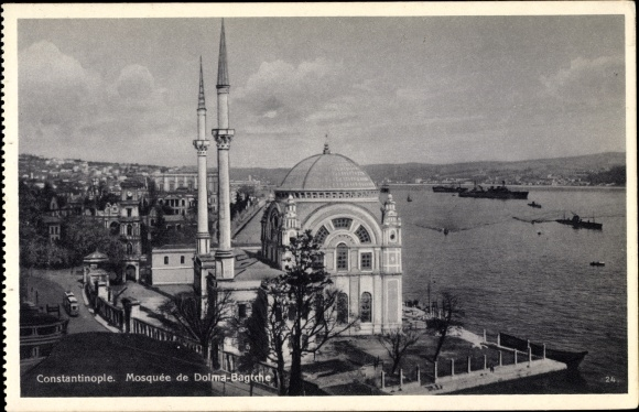 Ak Konstantinopel Istanbul Türkei, Mosquée de Dolma Bagtche