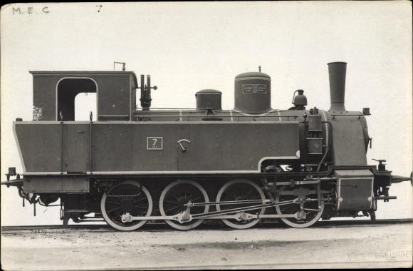 Foto Ak Deutsche Eisenbahn, Dampflokomotive, 7