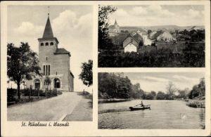 Ak St. Nikolaus Großrosseln Saarland, Kirche, Ortschaft