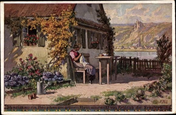 Künstler Ak Hey, Paul, Ich weiß wo ein Häuschen, Volksliederkarte Nr. 39