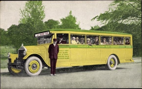 Ak Niagara Reservation Bus Service, Pierce Arrow observation coach