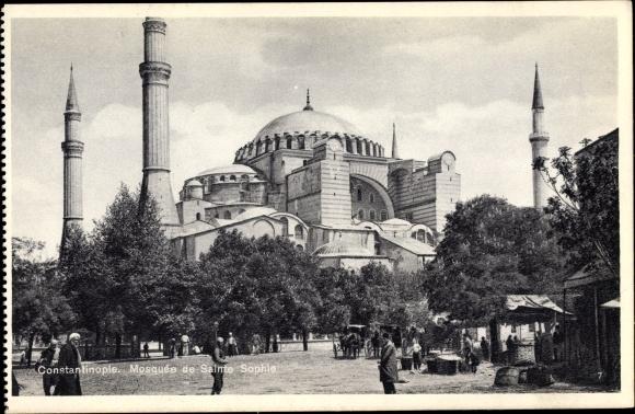 Ak Konstantinopel Istanbul Türkei, Mosquée de Sainte Sophie