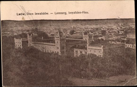 Ak Lwów Lemberg Ukraine, Invalidenhaus