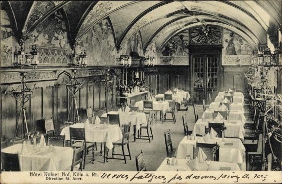 Ak Köln am Rhein, Hotel Kölner Hof, Dir. M. Auer, Innenansicht