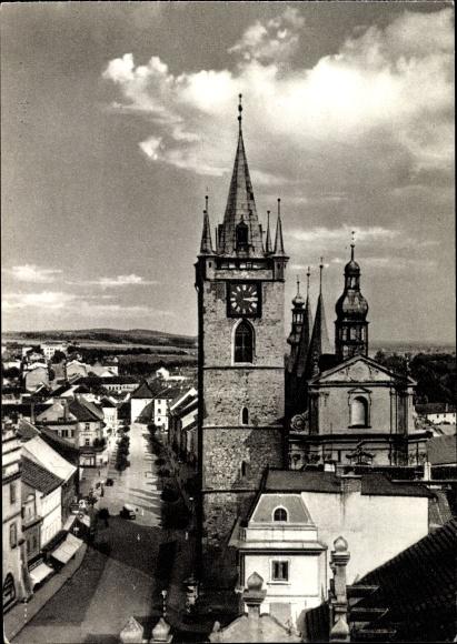 Ak Litoměřice Leitmeritz Reg. Aussig, Stadtkirche