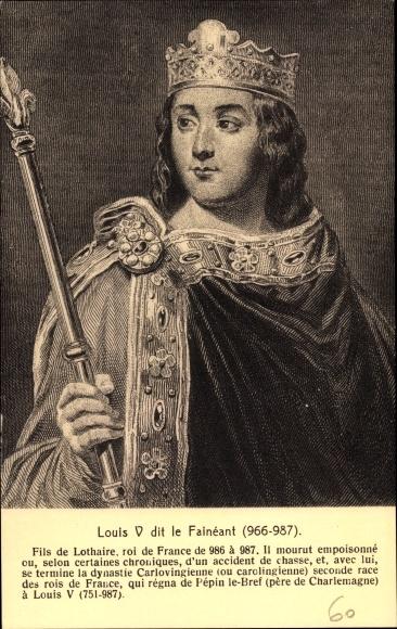 Künstler Ak Louis V le Fainéant, Ludwig V., König von Frankreich
