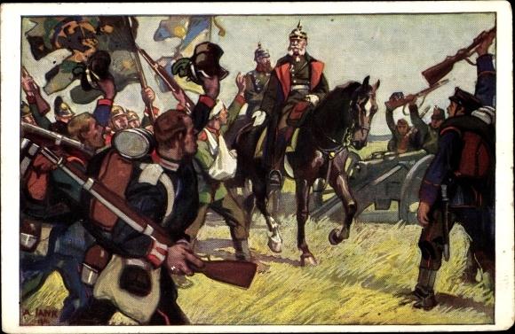 Künstler Ak König Wilhelm I. von Preußen, Sedan, Deutsch Französischer Krieg 1870