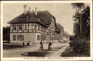 Ak Grafenwöhr in der Oberpfalz Bayern, Truppenübungsplatz, Mannschaftslager Baracke 72