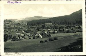 Ak Oker Goslar am Harz, Panorama vom Ort