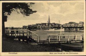 Ak Travemünde Lübeck Schleswig Holstein, Blick vom Priwall