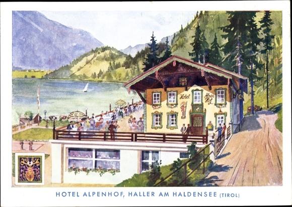Künstler Ak Haller Nesselwängle in Tirol, Hotel Alpenhof
