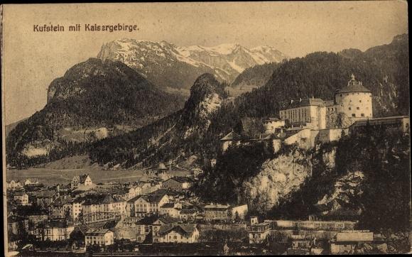 Ak Kufstein in Tirol, Festung, Ort, Kaisergebirge