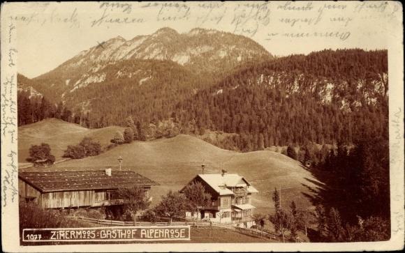 Foto Ak Zimmermoos Brixlegg in Tirol, Gasthof Alpenrose, Berg