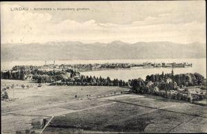 Ak Lindau am Bodensee Schwaben, Panorama vom Ort vom Hoyersberg gesehen