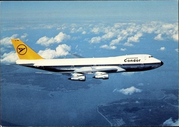 Ak Deutsches Passagierflugzeug Condor Jumbojet Boeing 747 200