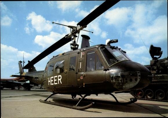 Ak Internationale Luftfahrtausstellung Hannover Langenhagen, Heeres Hubschrauber, Bundeswehr