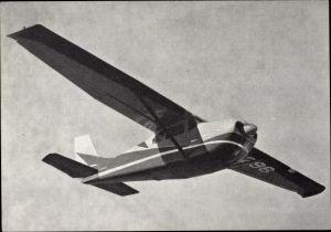 Ak Privat Sportflugzeug Cessna C 210 in der Luft
