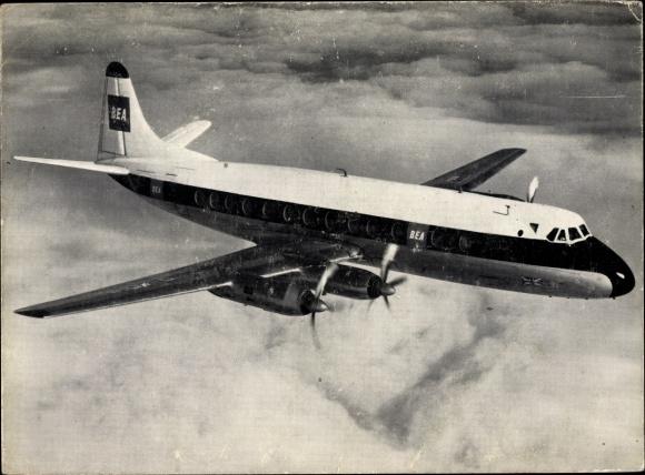 Ak Britisches Passagierflugzeug British European Airlines Jet Prop Viscount