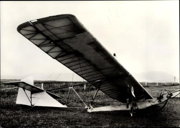 Ak Segelflugzeug, Schulgleiter SG 38 am Boden