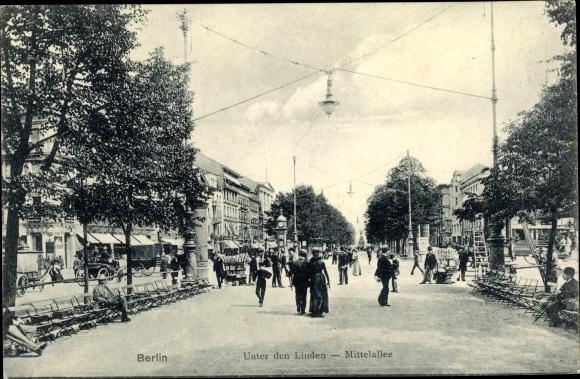 Ak Berlin, Unter den Linden, Mittelallee