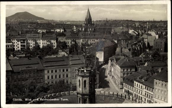 Ak Görlitz in der Lausitz, Blick vom Reichenbacher Turm