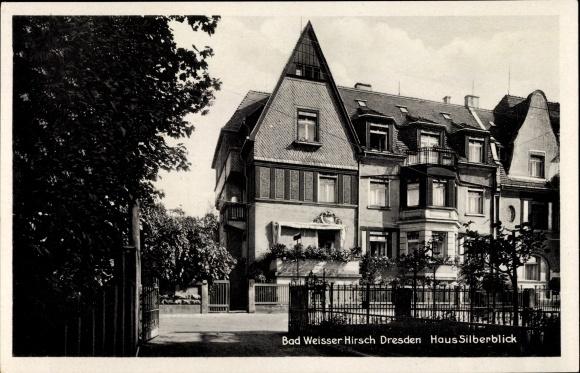 Ak Dresden Nordost Weißer Hirsch, Haus Silberblick