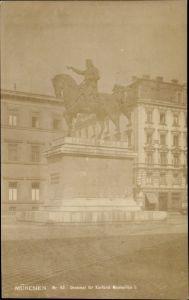 Ak München Bayern, Maximilian I. Denkmal