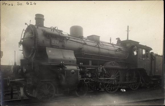 Foto Ak Deutsche Eisenbahn, Dampflokomotive, Halle 624
