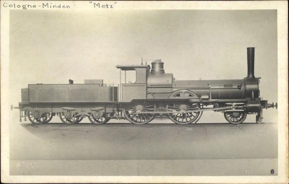 Foto Ak Deutsche Eisenbahn, Dampflokomotive, Borsig 2699/1871