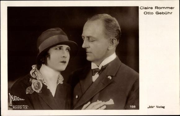 Ak Schauspieler Claire Rommer und Otto Gebühr, Portrait, Amag 738