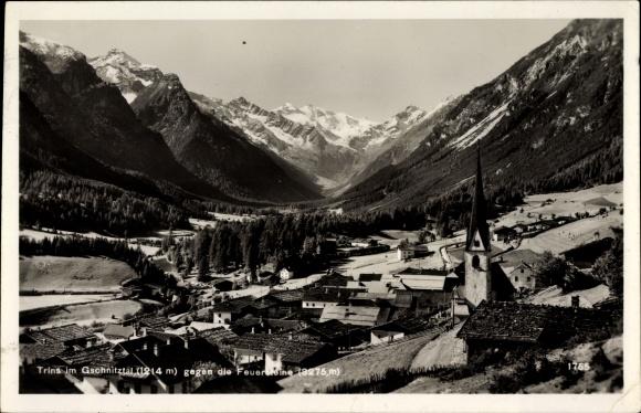 Ak Trins in Tirol, Gschnitztal, Feuersteine, Kirche