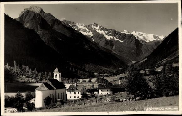 Ak Gschnitz in Tirol, Ort, Kirche, Berge