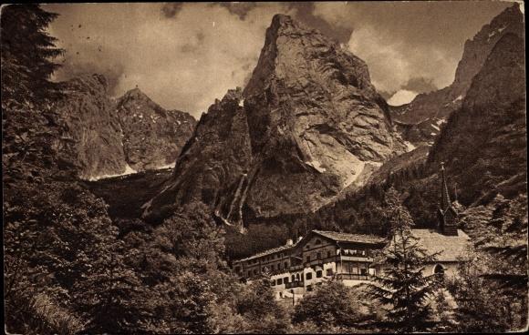 Ak Kufstein in Tirol, Anton Karg Haus, Kaisergebirge, Hinterbärenbad
