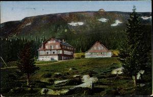 Ak Karpacz Krummhübel Riesengebirge Schlesien, Schlingelbaude, Schronisko na Starej Polanie