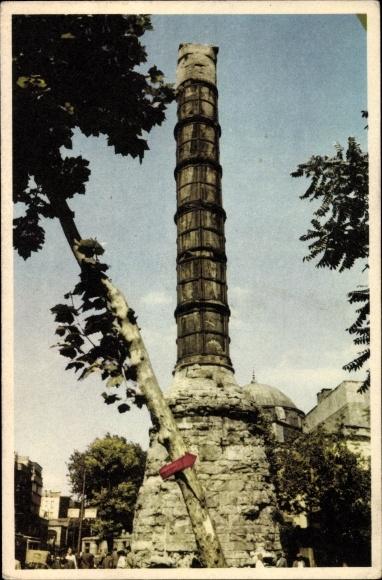 Ak Konstantinopel Istanbul Türkei, The Column of Theodosius