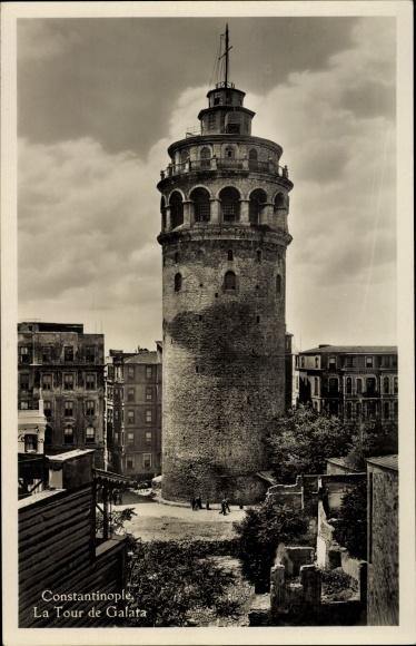 Ak Konstantinopel Istanbul Türkei, La Tour de Galata