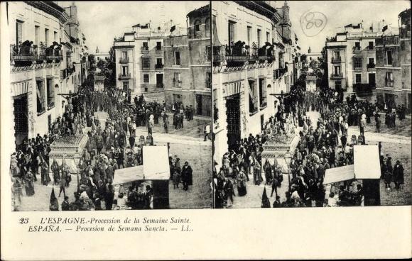 Stereo Ak Spanien, Procession de la Semaine Sainte
