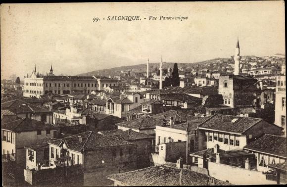 Ak Thessaloniki Griechenland, Vue panoramique