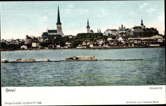 Ak Tallinn Reval Estland, Totalansicht von der Stadt