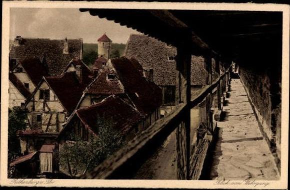 10 alte Ak Rothenburg ob der Tauber Mittelfranken, diverse Ansichten