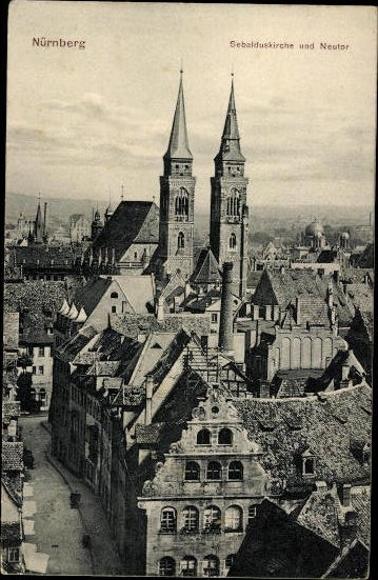 10 alte Ak Nürnberg in Mittelfranken Bayern, diverse Ansichten